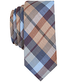 Original Penguin Men's Gazelle Plaid Skinny Silk Tie