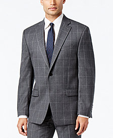 Lauren Ralph Lauren Men's Classic-Fit Ultraflex Gray Windowpane Suit Jacket
