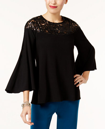 Alfani Sequined Swing Top, Created for Macy's