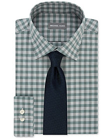 Michael Kors Men's Check Dress Shirt & Pindot Ground Diamond Tie