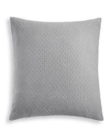 Charter Club Damask Designs Diamond Dot Cotton 300-Thread Count European Sham, Created for Macy's