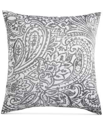 Stone Paisley Cotton 300-Thread Count European Sham, Created for Macy's