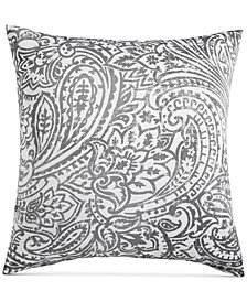 Charter Club Damask Designs Stone Paisley Cotton 300-Thread Count European Sham, Created for Macy's