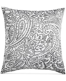 LAST ACT! Charter Club Damask Designs Stone Paisley Cotton 300-Thread Count European Sham, Created for Macy's