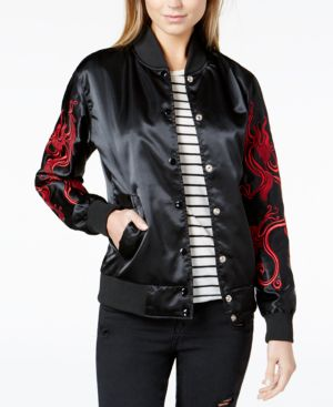 EMBROIDERED DRAGON BOMBER JACKET