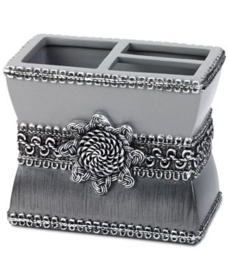 Braided Medallion Granite Toothbrush Holder