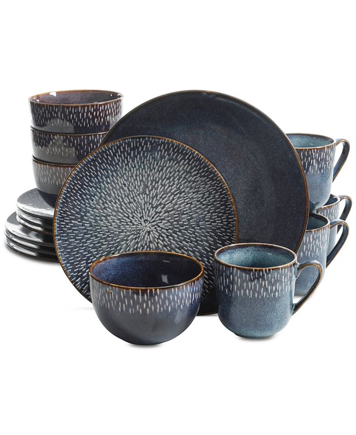 Gibson Laurie Gates - Toulouse Blue 16-Pc. Dinnerware Set