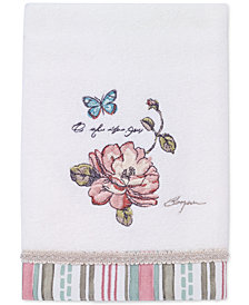 Avanti Butterfly Garden Cotton Hand Towel