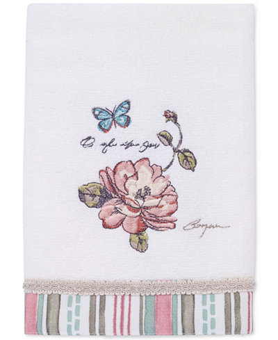 Avanti Butterfly Garden Cotton Hand Towel