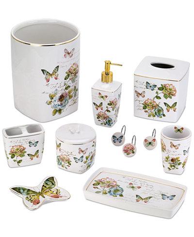 Avanti Butterfly Garden Bath Accessories Collection