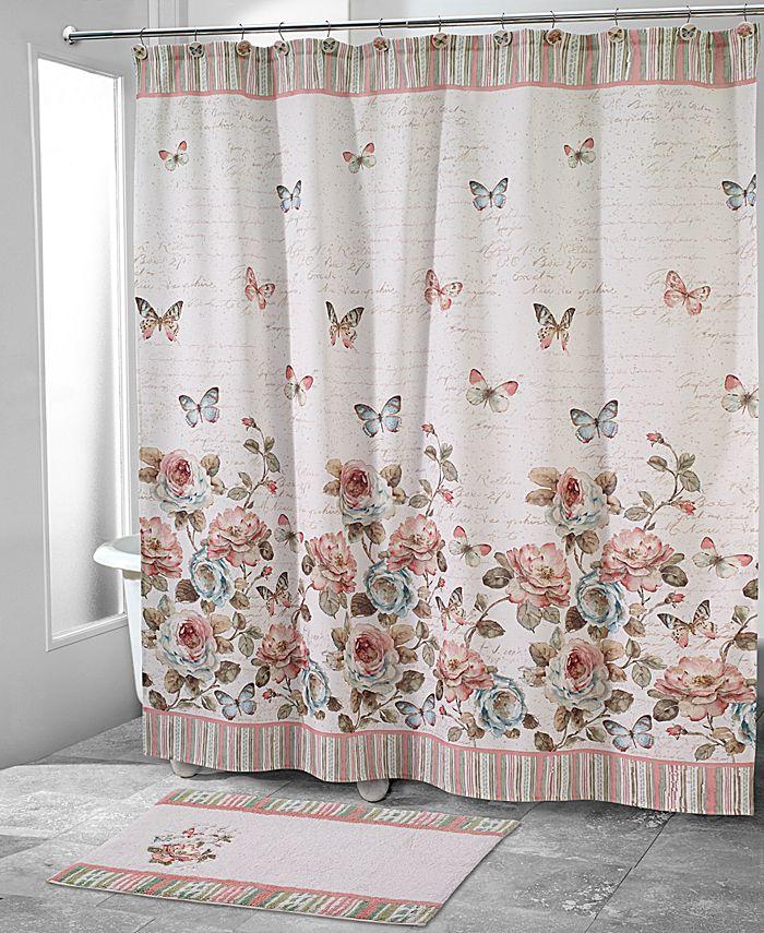 Avanti - Butterfly Garden Shower Curtain Collection