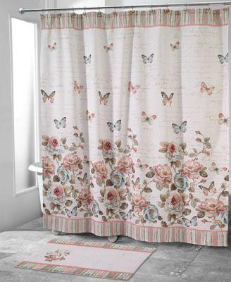 Superb Avanti Butterfly Garden Shower Curtain