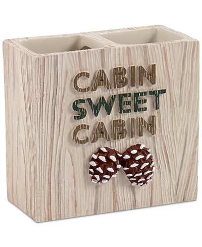 Avanti Cabin Words Toothbrush Holder