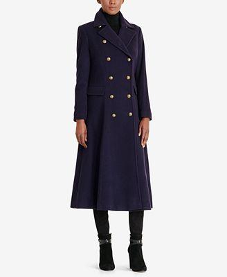 Lauren Ralph Lauren Wool-Cashmere Blend Maxi Coat