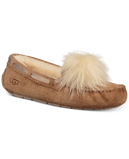 89a61110ee2 UGG® Women s Dakota Moccasin Pom Pom Slippers   Reviews - Slippers ...