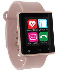 iTouch Unisex Pulse Blush Silicone Strap Smart Watch 41mm, Created for Macy's