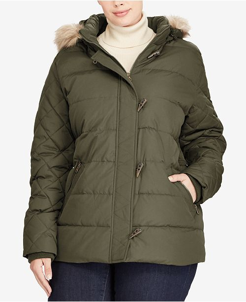 Lauren Ralph Lauren Plus Size Toggle Down Coat