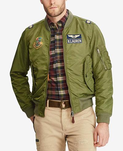Polo Ralph Lauren Men's Iconic MA-1 Bomber Jacket - Coats ...