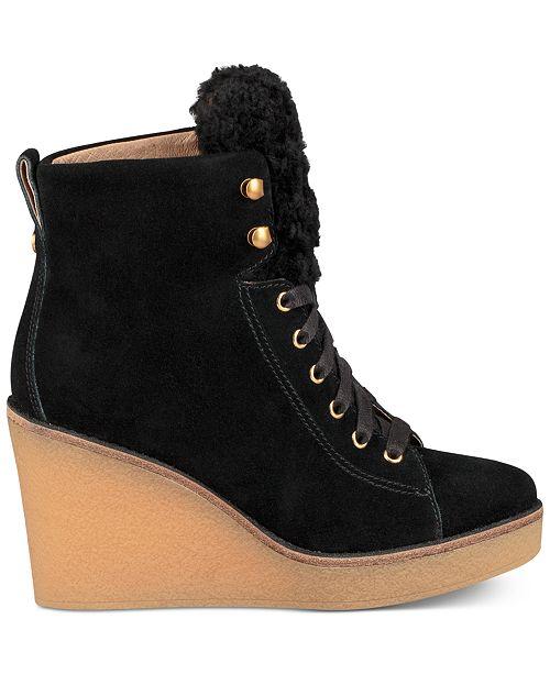 d93827257fc UGG® Women's Kiernan Wedge Lace-Up Booties & Reviews - Boots - Shoes ...