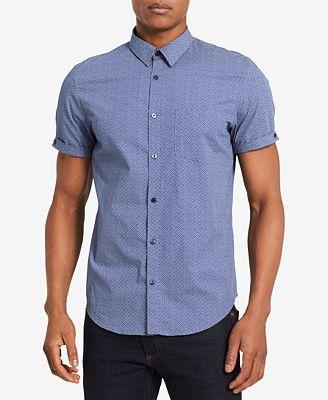 Calvin Klein Men's Micro Line Print Shirt