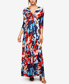 A Pea In The Pod Maternity Twist-Front Maxi Dress