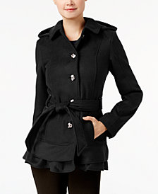 Celebrity Pink Juniors' Skirted Peacoat