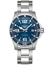 Men's Swiss HydroConquest Stainless Steel Bracelet Watch 41mm