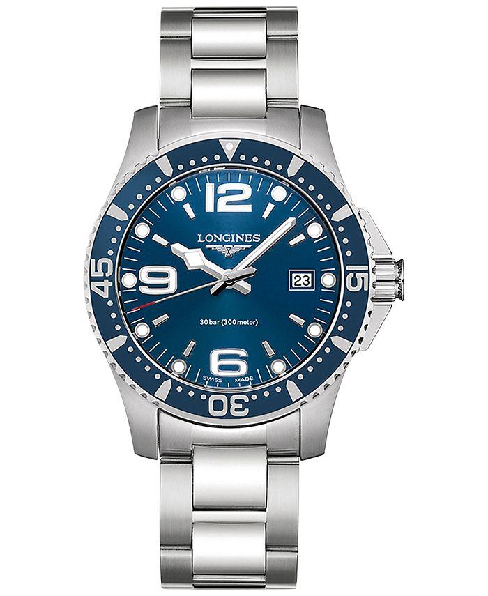 Longines - Men's Swiss HydroConquest Stainless Steel Bracelet Watch 41mm