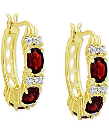 Rhodolite Garnet (3-1/3 ct. t.w.) & White Topaz (5/8 ct. t.w.) in 14k Gold-Plated Sterling Silver (Also in Sapphire)