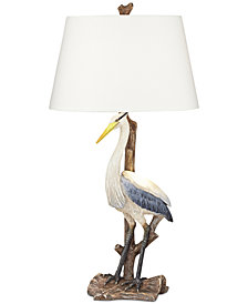 Pacific Coast Standing Heron Table Lamp