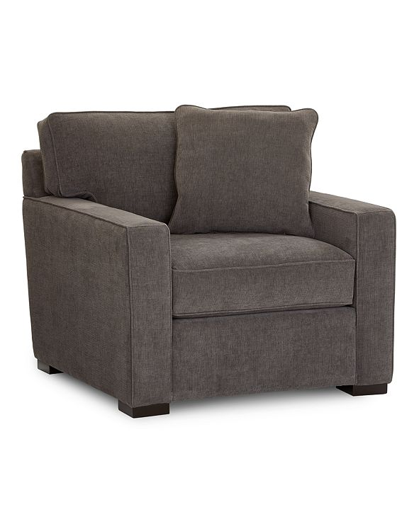 "Furniture Radley 38"" Fabric Armchair, Created for Macy's"