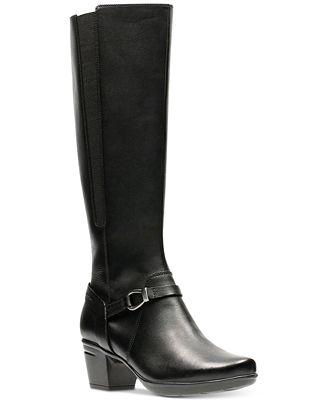 Clarks Emslie Sinai Wide Calf Knee High Boot (Women's)