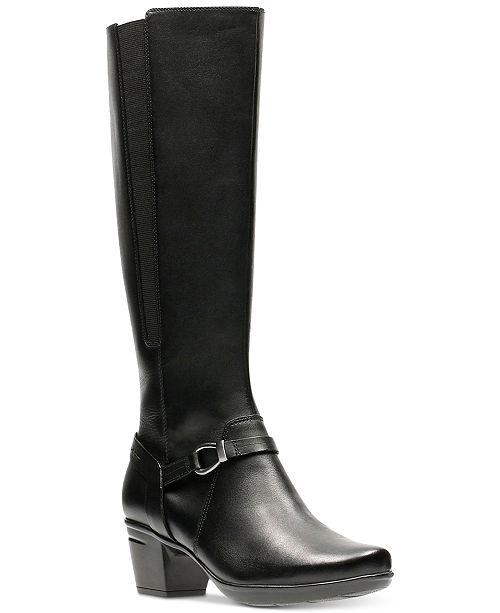 Clarks Emslie Sinai Wide Calf Knee High Boot (Women's) e3DSqd