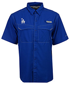 Columbia Men's Los Angeles Dodgers Low Drag Short Sleeve Shirt