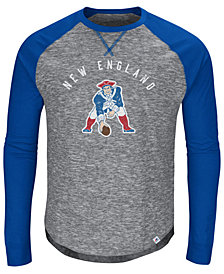Majestic Men's New England Patriots Corner Blitz Raglan Long Sleeve T-Shirt