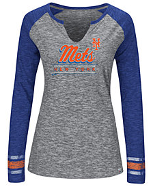 Women's New York Mets Running Out Long Sleeve T-Shirt