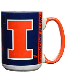 Illinois Fighting Illini 15oz Super Fan Inner Color Mug