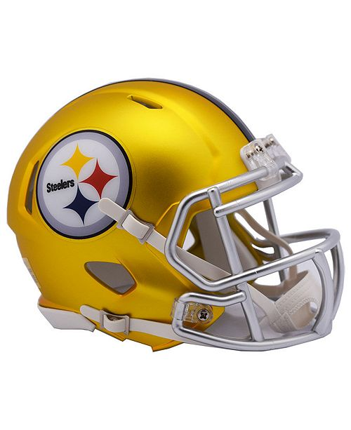 6c8edc37efb95 Riddell Pittsburgh Steelers Speed Blaze Alternate Mini Helmet ...