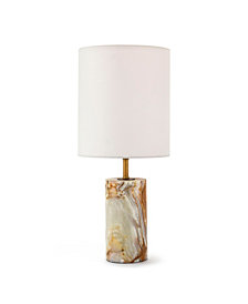 Regina Andrew Design Jade & Brass Cylinder Table Lamp