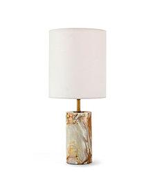 Regina Andrew Design Jade & Brass Cylinder Table Lamp