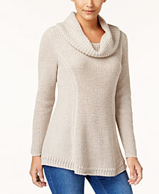 Style & Co Petite Cowl-Neck Sweater, Created for Macy's