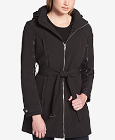 DKNY Quilted-Contrast Raincoat