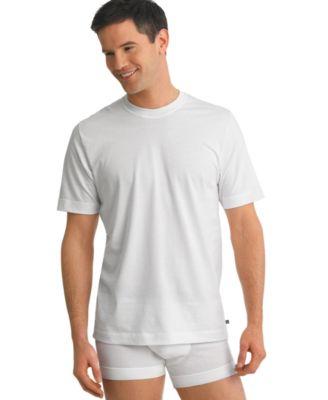 jockey men's tagless underwear, stay cool crew neck 2 Undershirts ...