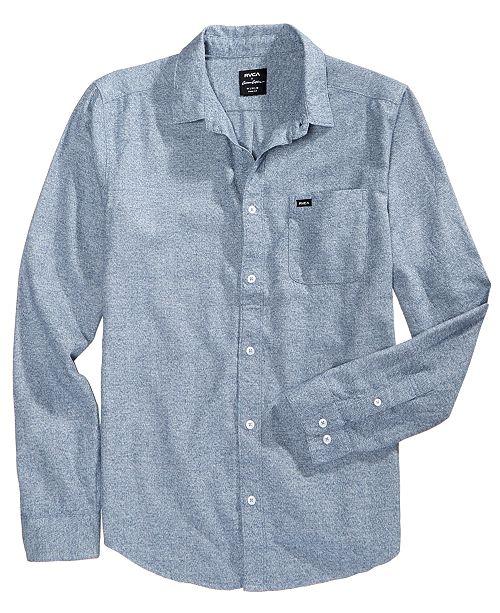 RVCA Men's Curren Static Chambray Shirt