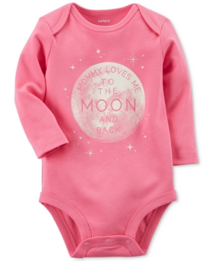 Carters To The Moon and Back Cotton Bodysuit Baby Girls (024 months)