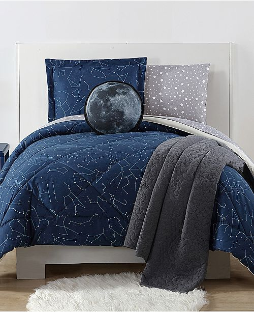 My World Night Sky Reversible 3-Pc. Constellation-Print Full/Queen Comforter Set