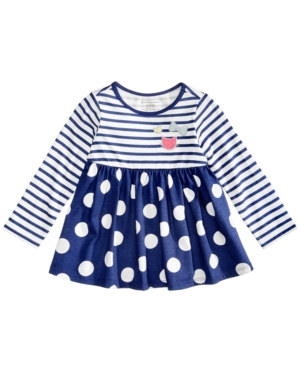 First Impressions Stripes  DotPrint Cotton Babydoll Tunic Baby Girls (024 months) Created for Macys