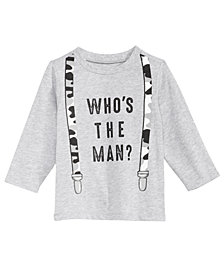 First Impressions Suspenders-Print Cotton T-Shirt, Baby Boys, Created for Macy's