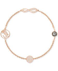 Swarovski Remix Collection Rose Gold-Tone Crystal Faith and Infinity Bracelet