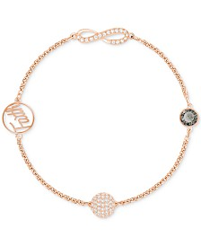 Swarovski Remix Collection Rose Gold-Tone Crystal Faith and Infinity Bracelet